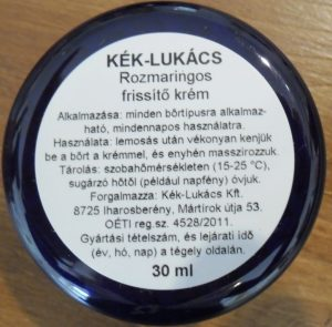 Kék-Lukács Rozmaringos frissítő krém (Rheuma krém)